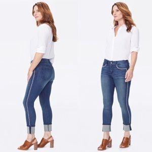 NYDJ Alina Wide Cuff Ankle Jeans